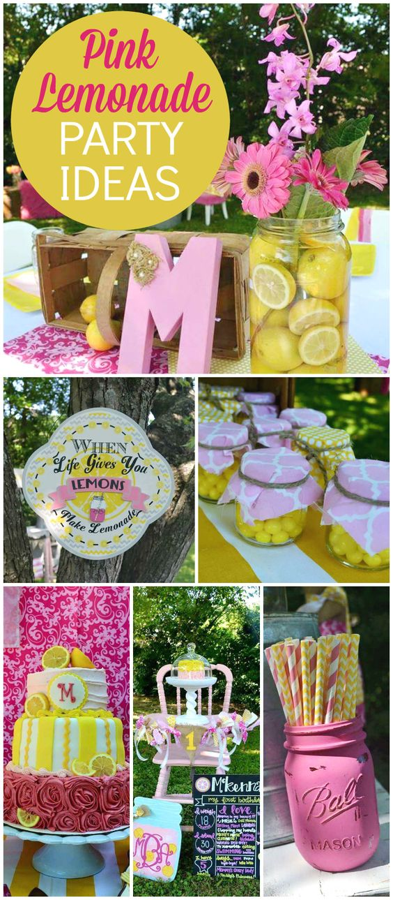 A pink lemonade party is so perfect for summertime! See more party ideas at CatchMyParty.com!: