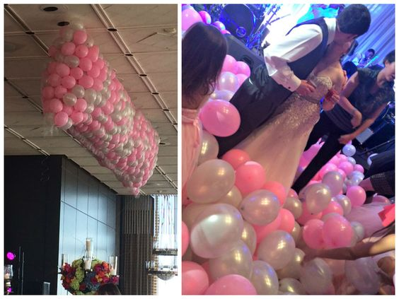 Wedding Balloon Drop - Houston, TX www.idealpartydecorators.com