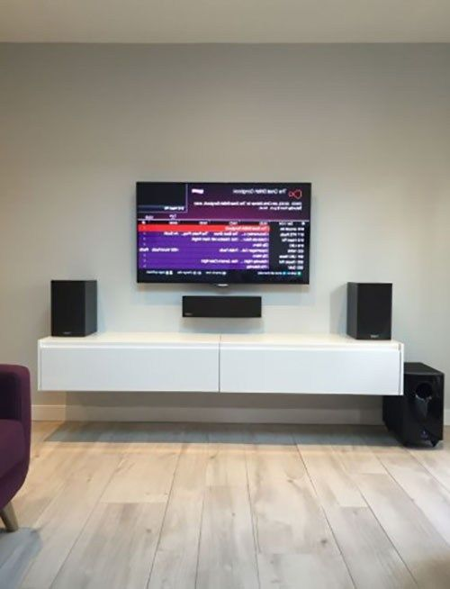 All You Need To Know About White Tv Stand Ideas Dengan Gambar