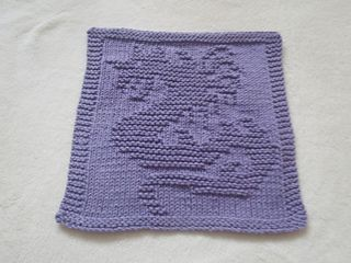 "This dishcloth used 46 grams to complete and its finished measurements are 10 x 9 3/4"" ."
