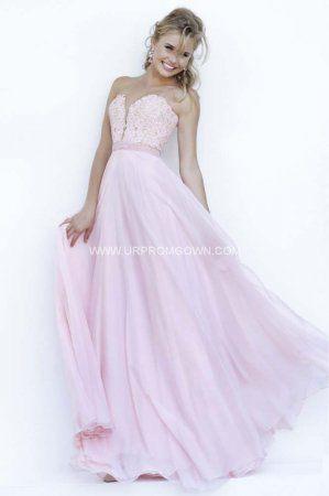 Elegant Strapless Lace Prom Dresses by Sherri Hill 32180 Blush