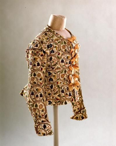 Embroidered Jacket, about 1615 on loan from the Fashion Museum, Bath & North East Somerset Council
