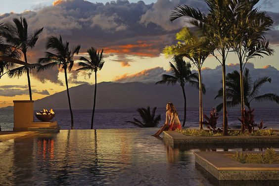 Taking in another majestic sunset. (Four Season Resort Maui at Wailea)