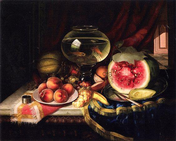 Morston Ream - Still Life with Goldfish Bowl