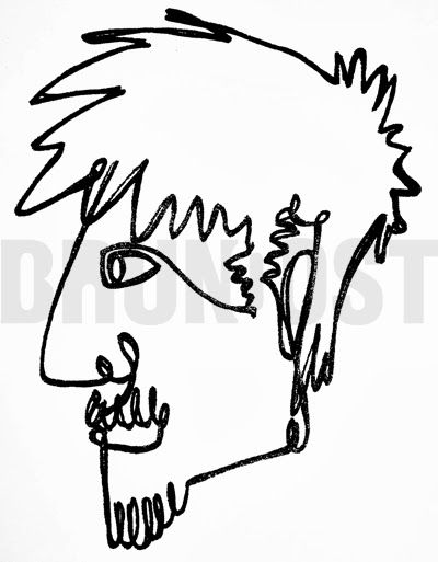 The Line Art Challenge : Bruno ost one line drawing inspired by picasso