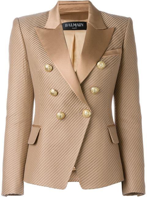 BALMAIN Textured Blazer. #balmain #cloth #blazer