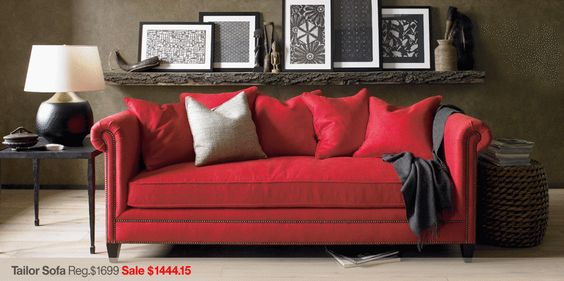red couch..