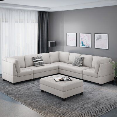 Latitude Run Lily 51 Symmetrical Modular Sectional With Ottoman Wayfair In 2020 Living Room Design Small Spaces Living Room Transformation Modular Sectional