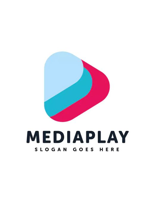 Media Play Logo Template Ai Eps Logo Templates Logos Company Logo Design