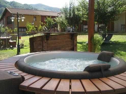 Jacuzzi Exterior Inflable. Great Spa Inflable Cuadrada De X Chispa ...