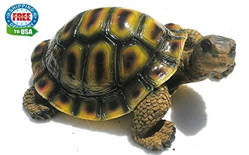 Resin Garden Turtle Figurine Lifelike Decor Yard Outdoor Ornaments