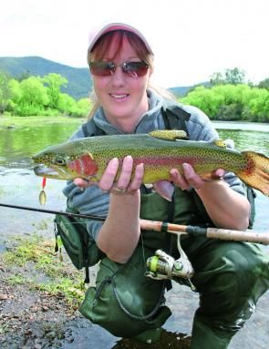 wading and spin-casting for trout is super-fun! | fisherwomen, Fly Fishing Bait