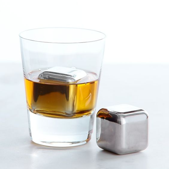 stainless steel whiskey cubes