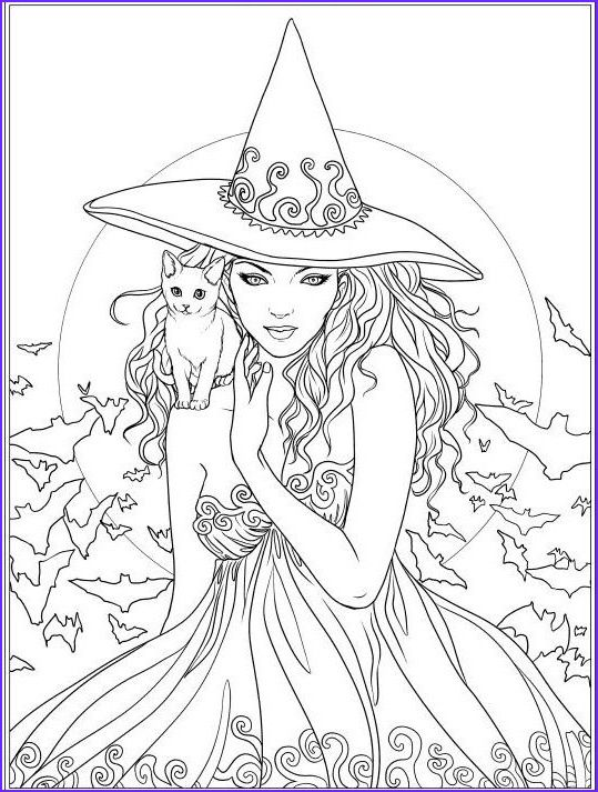 9 Cool Halloween Coloring Pages For Adults Image Witch Coloring Pages Fairy Coloring Pages Halloween Coloring Pages