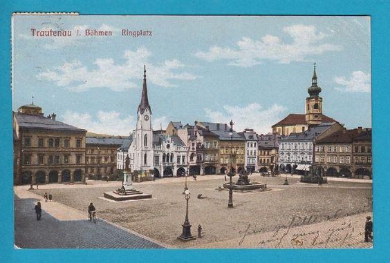 ▶ 261 ▶ AK Trautenau Ringplatz - Proschwitz um 1910   eBay