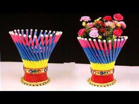 Diy Newspaper Crafts Best Out Of Waste Newspaper Craft Idea Easy Flower Vase Craft Ideas Youtube Newspaper Crafts Diy Vase Crafts Flower Vase Crafts