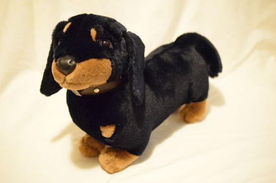 """Vintage HTF FAO Schwarz Dachshund Weiner Dog 13.5"""" Long- in Beautiful Condition! #FAOSchwarz"""