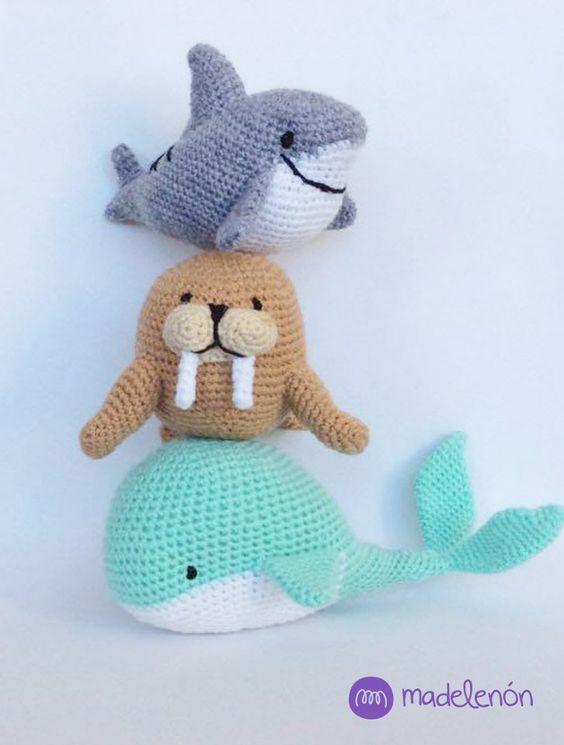 Mi Mar 2 patrón #amigurumi #crochet                                                                                                                                                                                 Más:
