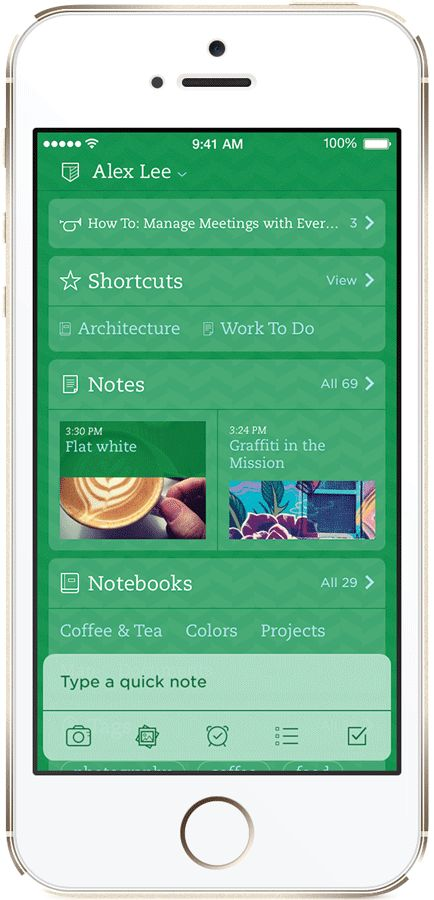 Новый Evernote для iOS 7 « Блог Evernote