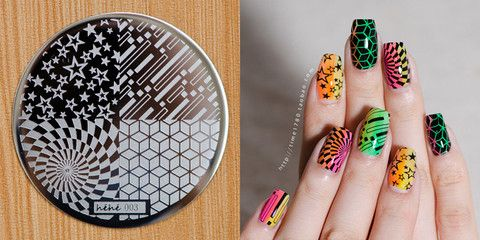 aiyoohehe[hēhē™]Nail Art Stamping Plates Designed by Haiyan.Round Polish Stamping Steel Template.The Early Collection #001-012.