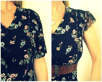 Floral dress restyle