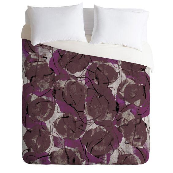 Georgiana Paraschiv Autumn Pattern Duvet Cover   DENY Designs Home Accessories