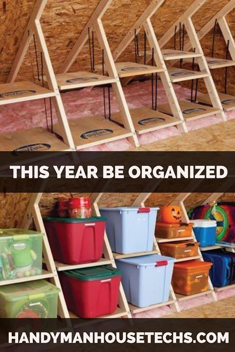 The Holidays Are Approaching And If You Re Struggling To Dig Out Your Halloween And Fall Decor Consider Orga Tiny House Storage Attic Storage Storage Labels