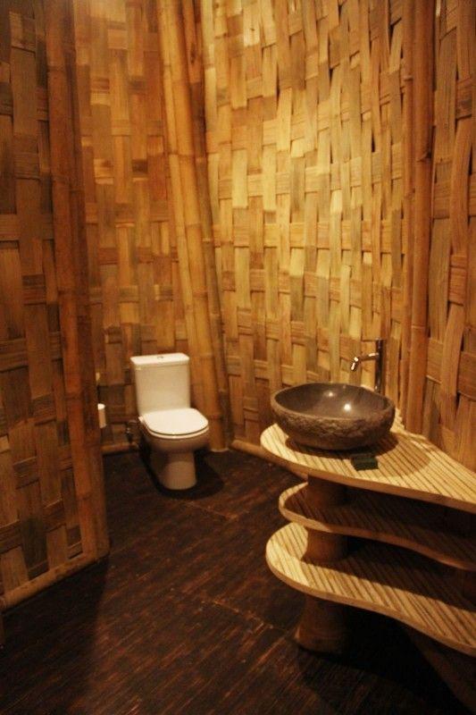 15 ไอเด ย การออกแบบห องน ำไม ไผ Bamboo House Design Bamboo House Bamboo Village