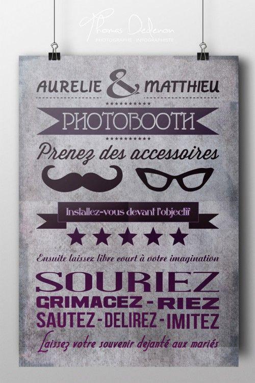 Célèbre Claudia : petit panneau pour expliquer le principe du photobooth  ZR64