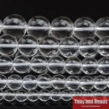 """Free Shipping Natural Stone Smooth Clear Quartz Loose Beads 16"""" Strand 4 6 8 10 12 MM Pick Size For Jewelry Making Q1(China (Mainland))"""