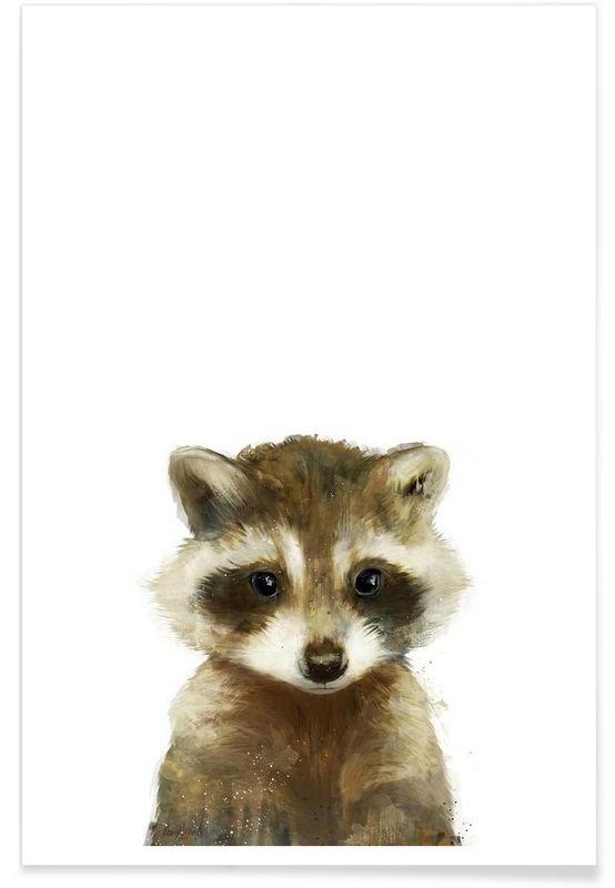 Little Raccoon als Premium Poster von Amy Hamilton | JUNIQE