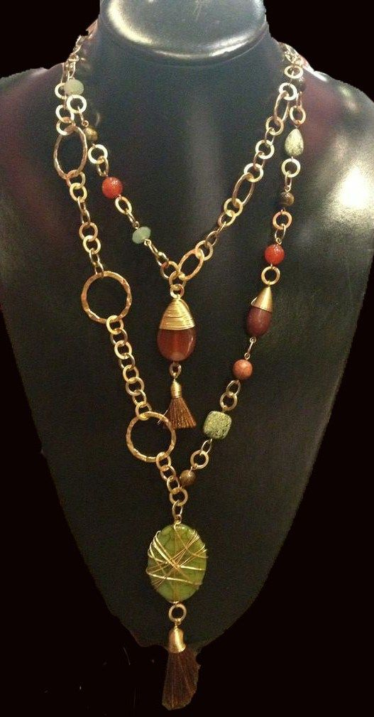 Collar de moda y de piedras naturales. Fashion Necklace. (venta mayoreo) mas