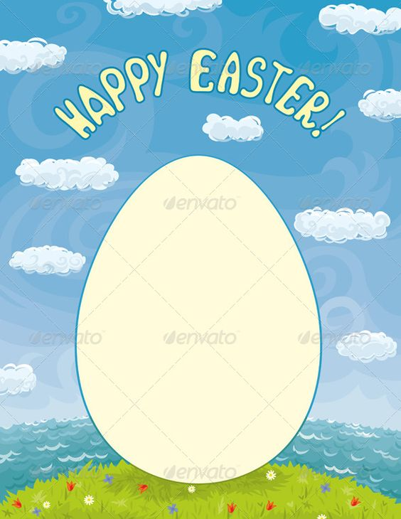 Easter Card Template #GraphicRiver Vector bright template for - easter greeting card template