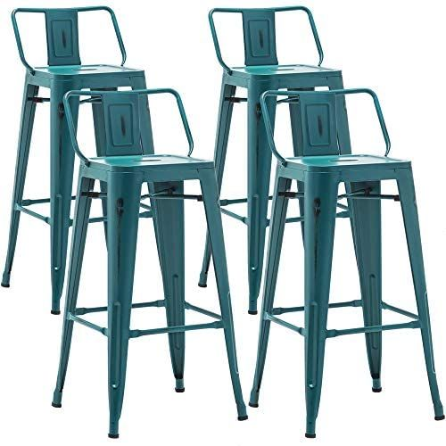 Amazon Com Aklaus 30 Inch Metal Bar Stools Set Of 4 Counter Stools With Backs Counter Height Stools High Back Metal Bar Stools Metal Bar Counter Height Stools 30 inch metal bar stools