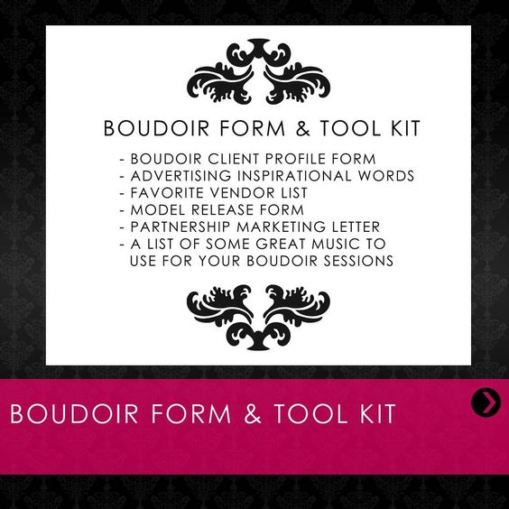 JensFab If you shoot boudoir, or want to start, this form and tool - letter of release form