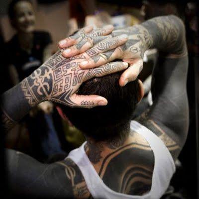 Full black tattoo