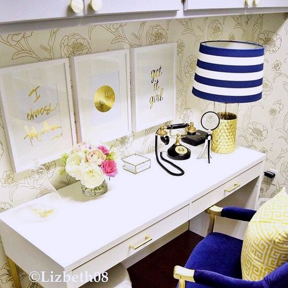 #Glam #OfficeDecor #InteriorDesign #MakeHomeYours [: @lizbeth08]