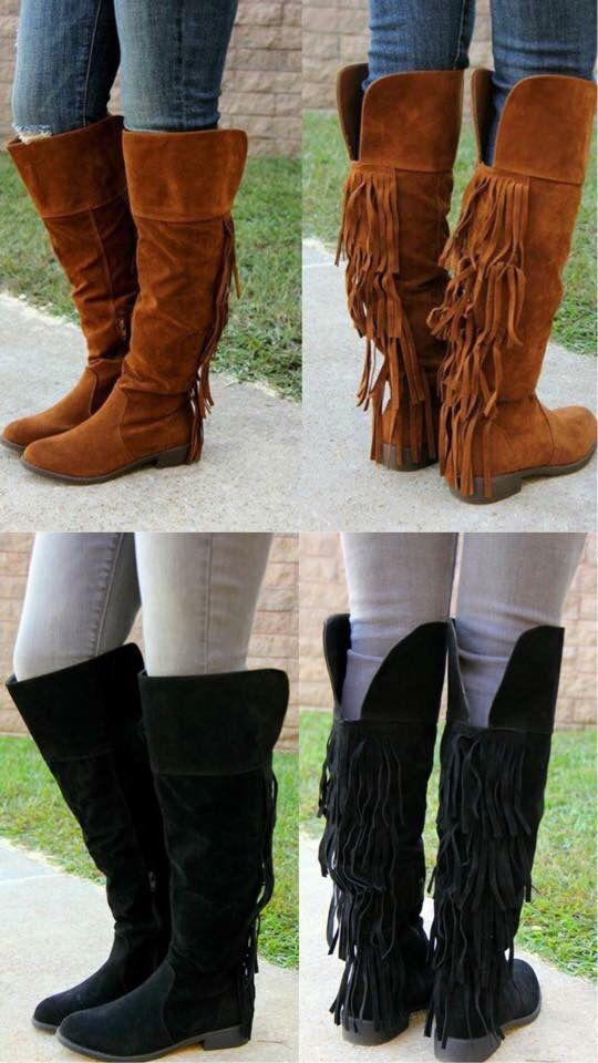 Fringe Boots  Carol's Boutique on FaceBook