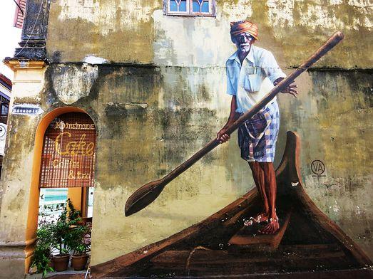 Straßenkunst in George Town