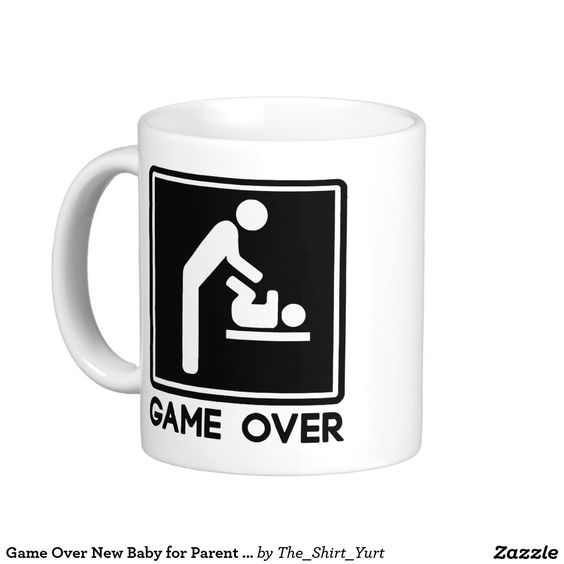 Game Over New Baby for Parent Dad Classic White Coffee Mug