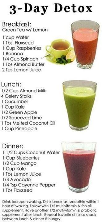 3 Detox Smoothie Recipes pretty easy... maybe only one day not three