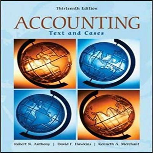 Accounting Texts And Cases 13th Edition By Anthony Hawkins