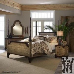 Padmas plantation trinidad four poster bed full size for Plantation style bed