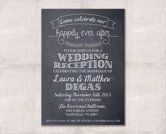 After Wedding Party Invitation: Wedding Reception, Celebration, After Party Invitation