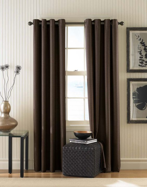 Monterey Textured Lined Grommet Drapery / Curtainworks.com thinking about buying these for Living room
