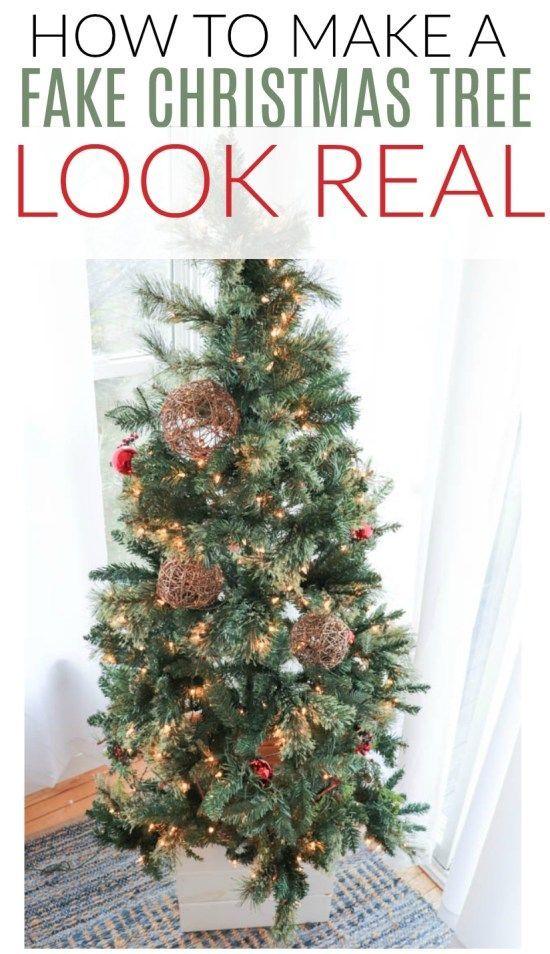 How To Make A Fake Christmas Tree Look Real Fake Christmas Trees Fake Christmas Tree Diy Artifical Christmas Tree
