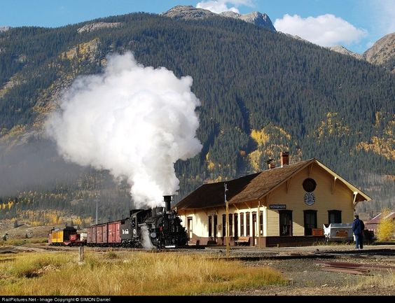 Silverton, Colorado You can catch the train in Durango to Silverton  And ride back on train which is a very long trip, or ride  back on the bus.