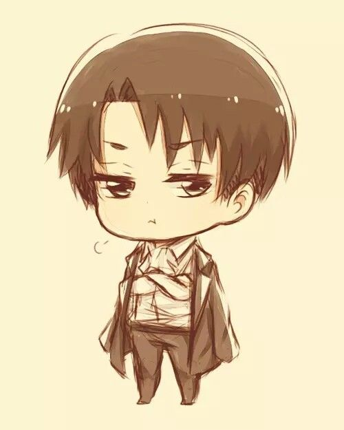 how to draw chibi levi attack on titan