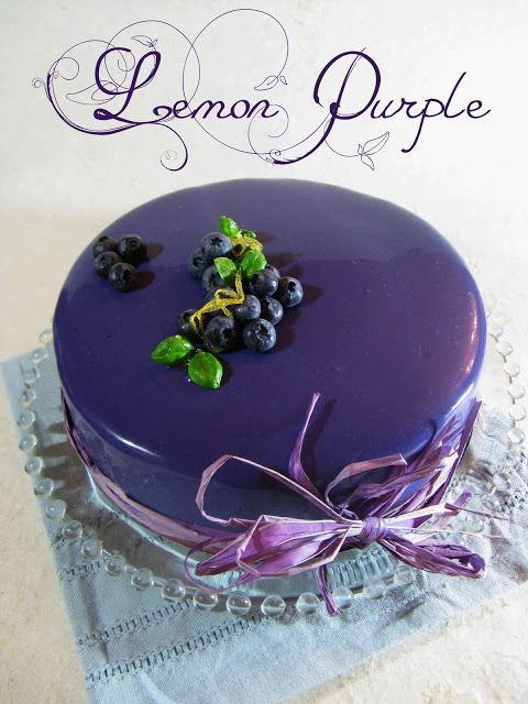 translation basilic another purple gnoise crmeux citron mousse lemon cake for le cmle lemon purple genoise bas chocolat recipe just cakes desserts pinterest
