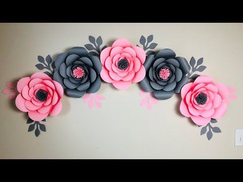 Room Decor Ideas Nursery Paper Flowers Diy Paper Flower Wall Decoration Ideas Youtube In 2020 Paper Flowers Diy Paper Flower Wall Diy Paper Flowers Tutorial